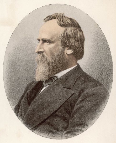 RUTHERFORD BIRCHARD HAYES 19th President of the USA 1877-81