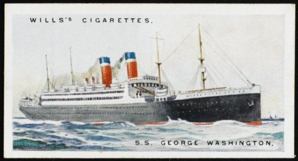 Atlantic liner of the United States Lines - at this time, the largest liner flying the American flag