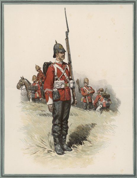 South Wales Borderers: Private in heavy marching order