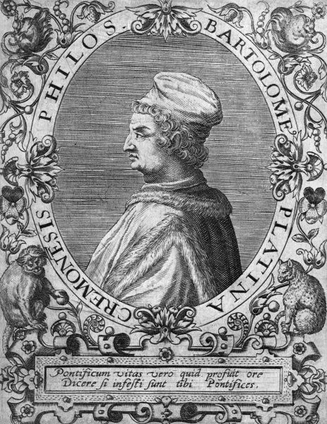 BARTOLOMMEO DE SACCHI known as 'PLATINA' Italian humanist and historian of Cremona Date: 1421 - 1481