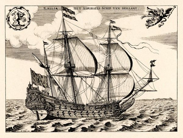 'Het Admiraelsschip van Hollant' - the Dutch Admiral's flagship