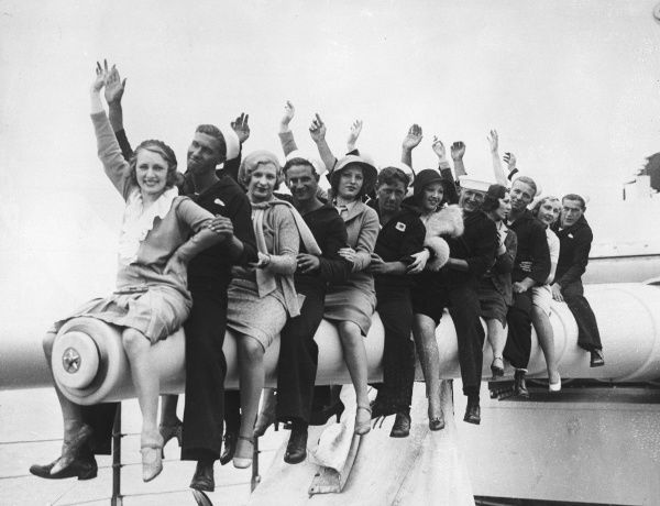 Our photograph girls show that 'all the nice girls love a sailor' - happy days in the U.S. navy!