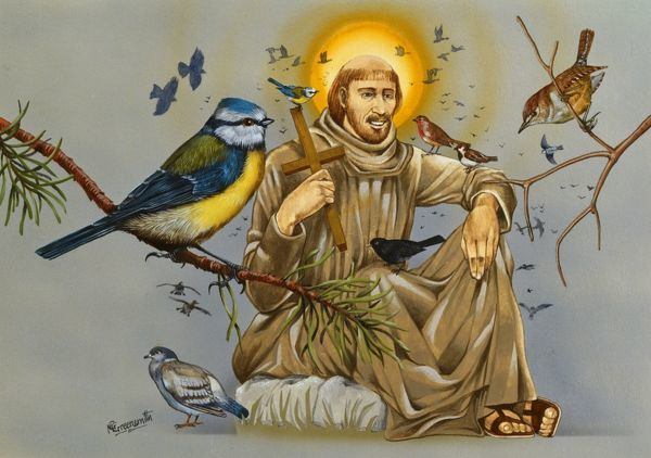 Saint Francis of Assisi (Giovanni Francesco di Bernardone 1182-1226) - Catholic deacon and preacher and founder of the Order of Friars Minor, more commonly known as the Franciscans. Most well known as the patron saint of animals