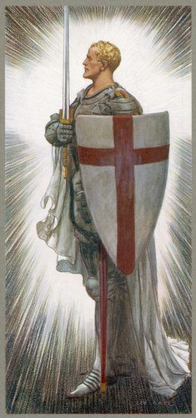 SAINT GEORGE with shield and sword