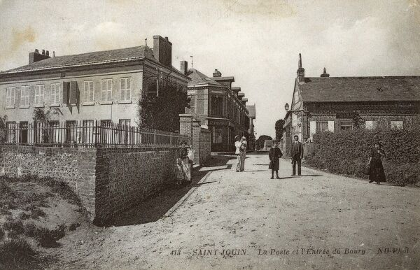 Saint-Jouin, France - The Post Office and town entrance Date: 1913