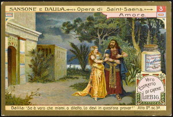 Act 2 scene 3 : Dalila tries to get Samson to reveal to her the secret of his strength