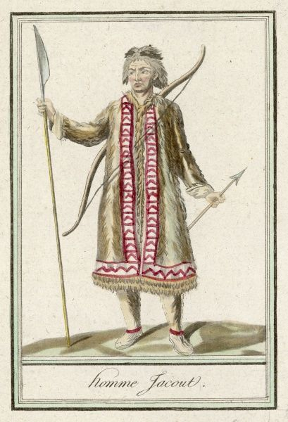 Yakhut warrior with pike and bow
