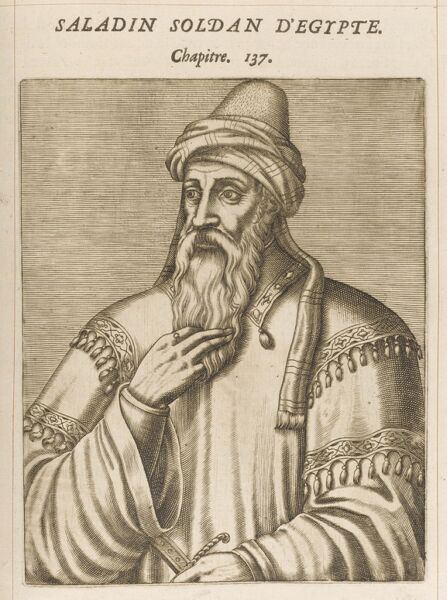 Salah Ad-Din Yusuf Ibn Ayyub, known as Saladin, Muslim Sultan of Egypt and Syria (reigned 1174-1193)