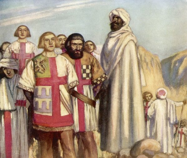 At the battle of Hattin Saladin captures king Guy and leading Templars : Muslim leaders will vie for the honour of beheading them