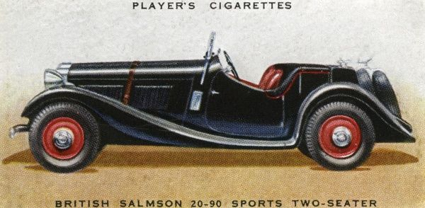 The British Salmson 20-90 Sports two-seater is an attractive sports car with a concealed hood in case it starts to rain. Date: 1936