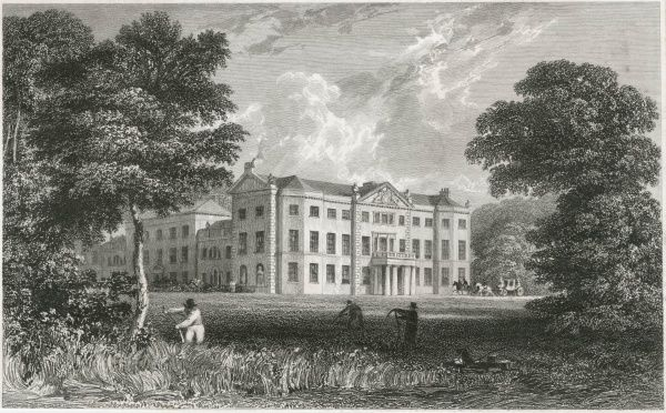 Gardeners at work in the grounds of Saltram House, Devon