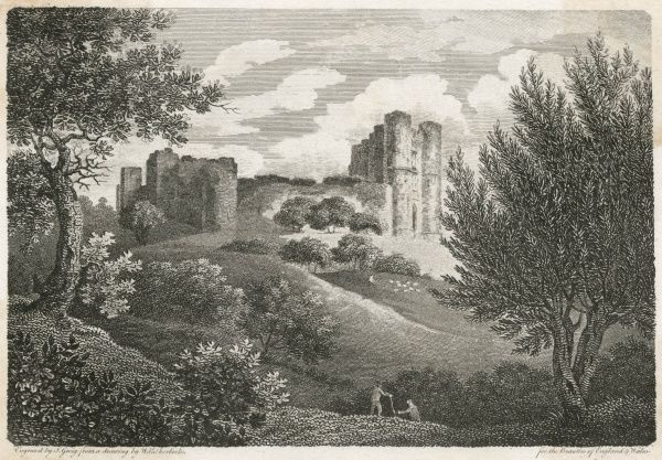 The ruins of Saltwood Castle, Kent