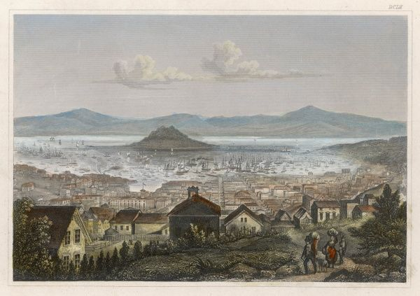 The former Spanish settlement of Yerba Buena was taken from the Mexicans in 1846 and renamed San Francisco : it expanded rapidly during the Gold Rush of 1849