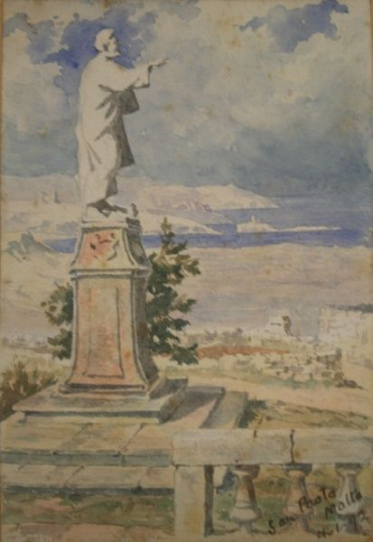 San Paolo (St Paul's statue at St Paul's Bay), Malta 4 January 1892