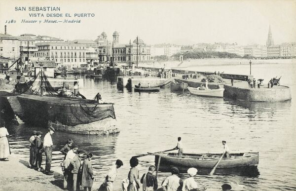 San Sebastian, Spain - a view of the port