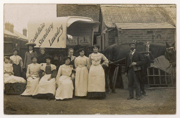 The staff of the Castle Hand Sanitary Laundry
