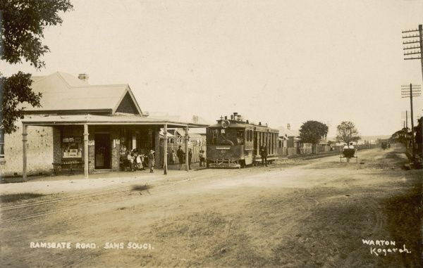 Train on the Ramsgate Road, Sans Souci, New South Wales, Australia