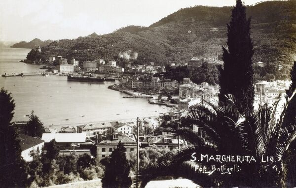 Santa Margherita Ligure in the province of Genoa in the Italian Liguria region, southeast of Genoa (in the Tigullio traditional area). Date: circa 1940
