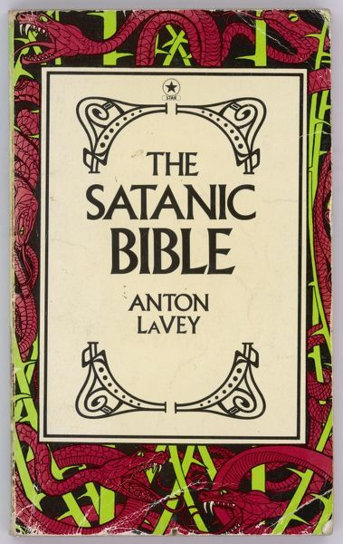 Popular edition of self- anointed High Priest Anton Lavey's 'Satanic Bible', a dubious mish-mash of occult rituals, pseudo-magic and popular diabolism