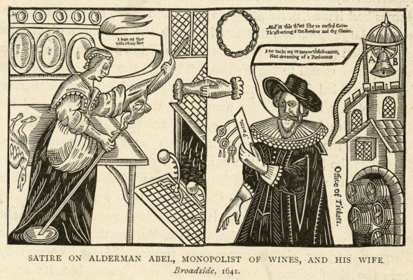 A satire on Alderman Abel, 'Monopolist of wines', and his wife