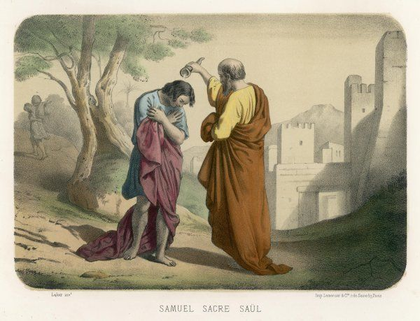 Saul is anointed by Samuel