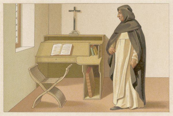 GIROLAMO MARIA FRANCESCO SAVONAROLA in his cell, from a painting by Fra Bartolomeo