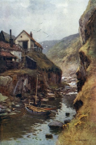 Scalby Beck, running down to the sea. Date: circa 1909
