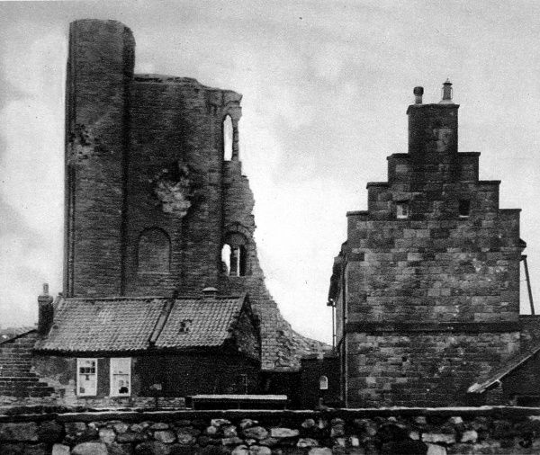 Scarborough Castle, damaged by German shells