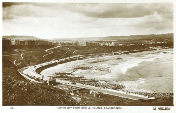 Scarborough, North Yorkshire - North Bay from Castle Holmes Date: circa 1930s