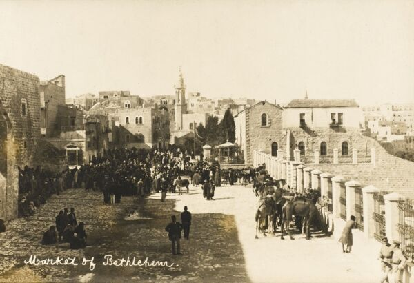 The Market in Bethlehem in the Ottoman era - was for a time part of Jordan and now part of Israel