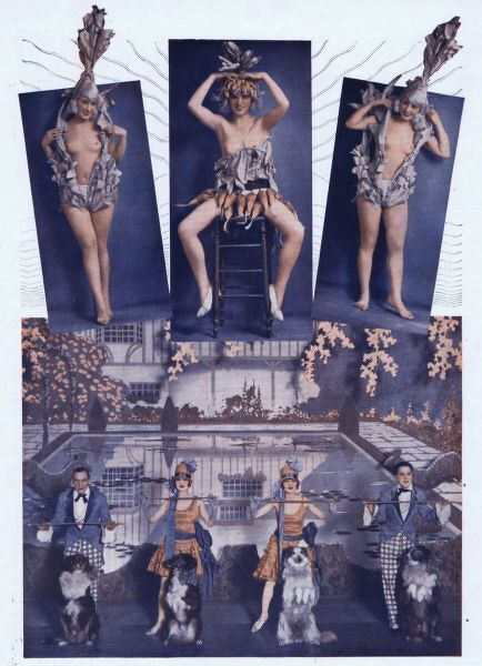 Scenes (including the Dollies and Colies number with the Dolly Sisters) from New York - Paris at the Casino de Paris, Paris, 1927 Date: 1927