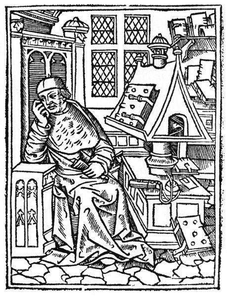 A scholar at his studies. Date: 16th century