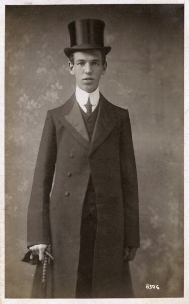 A Westminster schoolboy in his Sunday dress Date: 1909