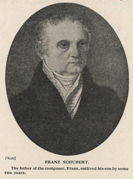 FRANZ SCHUBERT Schubert's Father, who outlived his son by two years