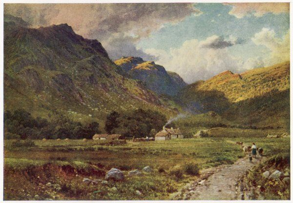 Scottish scenery: a shepherd's cot in Glen Nevis, Inverness