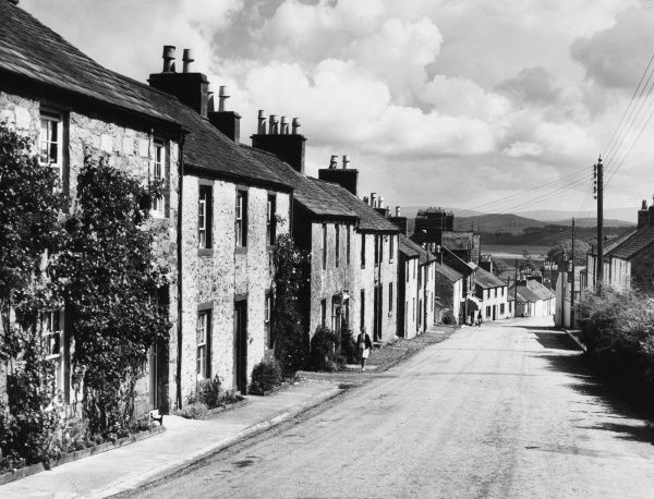 A view of the main street in the little village of Palnachie, Kirkcudbrightshire, Scotland