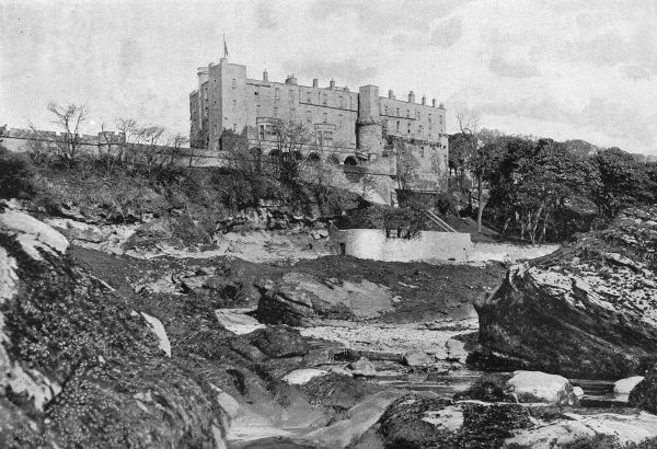 Dramatic view upstream to Wemyss Castle Date: 1890s