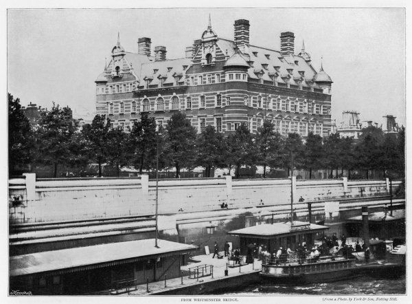 New Scotland Yard, designed by Norman Shaw, opened 1891