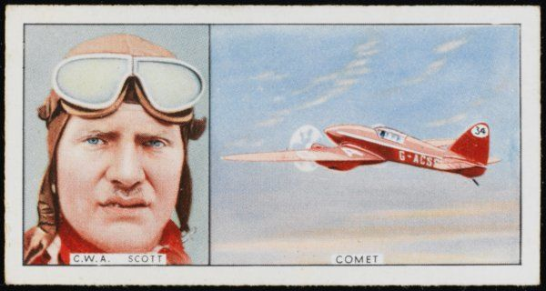 Charles William Anderson Scott and his Comet: he made several record flights