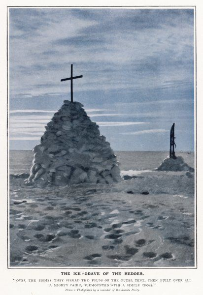 The ice-grave of the heroes based on a photograph by a member of the search party