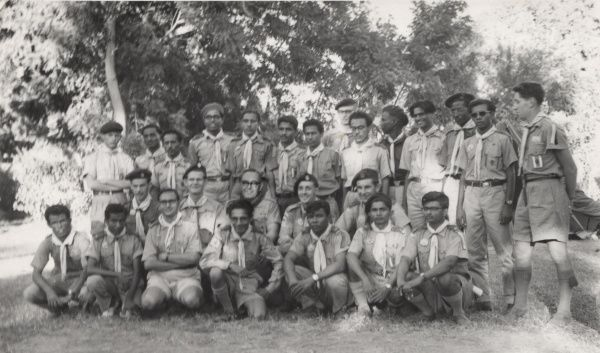 Scouts on a course for Patrol Leaders in Aden, Yemen. 1960