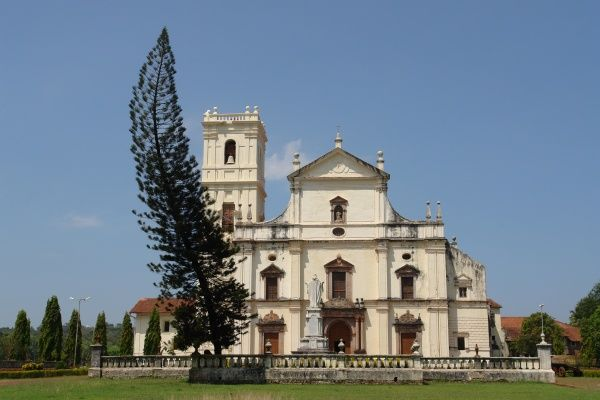 The Se (St Catherine's) Cathedral in Panjim, Old Goa, India. It was commissioned by the Portuguese Viceroy, Redondo, and consecrated in 1640