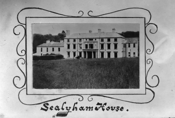 View of Sealyham House or Mansion, a Georgian style country house near Little Newcastle, Pembrokeshire, Dyfed, South Wales