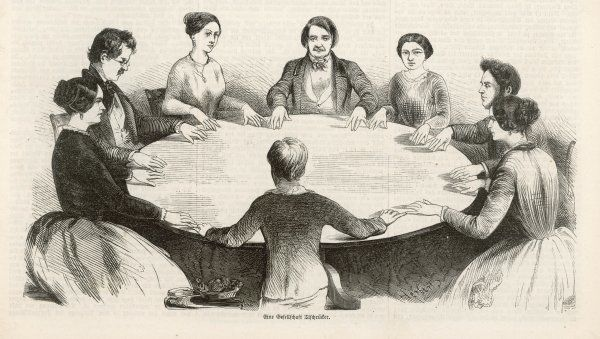 Spiritualism comes to Germany - a table-lifting seance at Leipzig in the early days