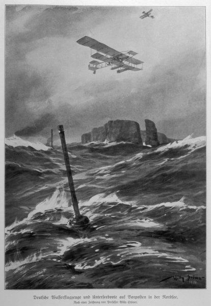 German seaplanes and U-boats in the North Sea