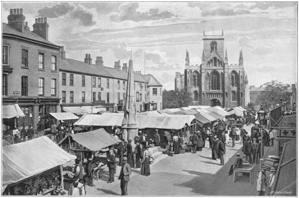 The market place at Selby, Yorkshire
