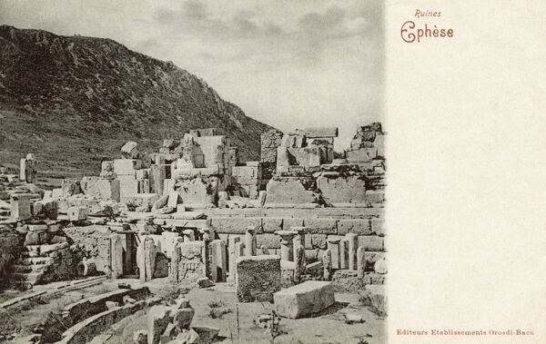 Selcuk, Turkey - The site of Ancient Ephesus - Ruins of the City Date: circa 1902