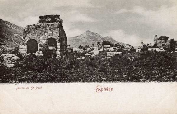 Selcuk, Turkey (Ancient Ephesus) - St Paul's Prison Date: circa 1902