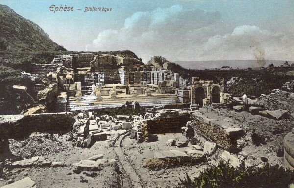 Selcuk, Turkey (Ancient Ephesus) - Ruins - The Library Date: circa 1905