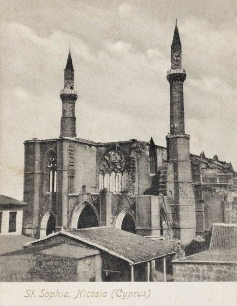 Selimiye Mosque in Nicosia was originally constructed during 1209 and 1228 as the Saint Sophia Cathedral